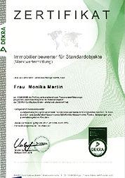 Dekra Zertifizierung - Monika Martin