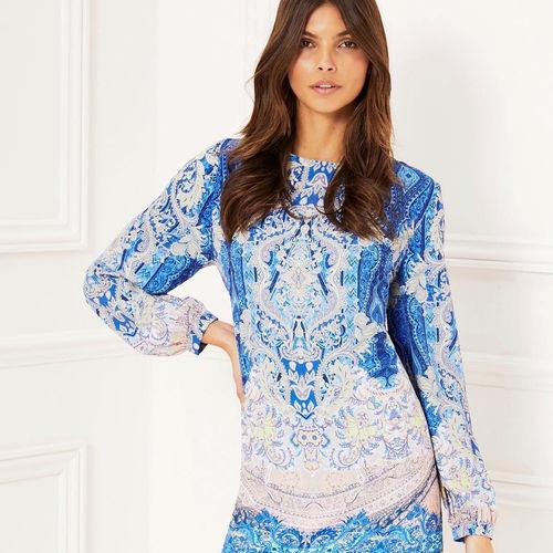 + Ethnic decorative blue print +