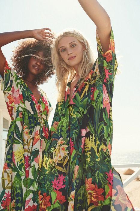 + Tropical flowers print+