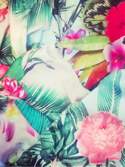 + Vintage tropical botanicals print +