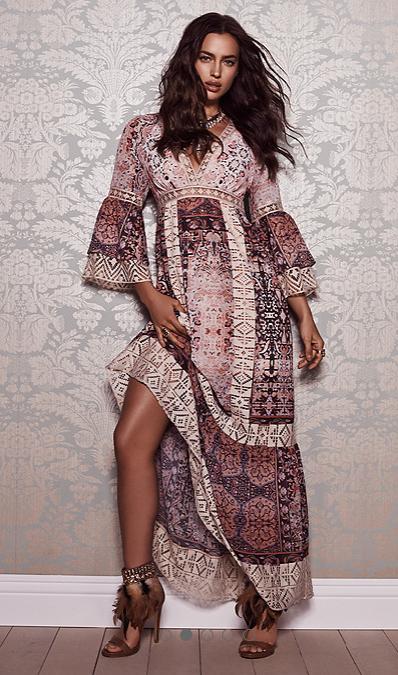 + Ethnic scarves patchwork print +