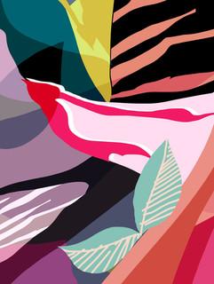 + Abstract geometric skin print +