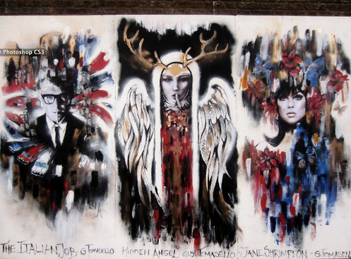 + Mural outside Gallery 90 - Finsbury Park - London +