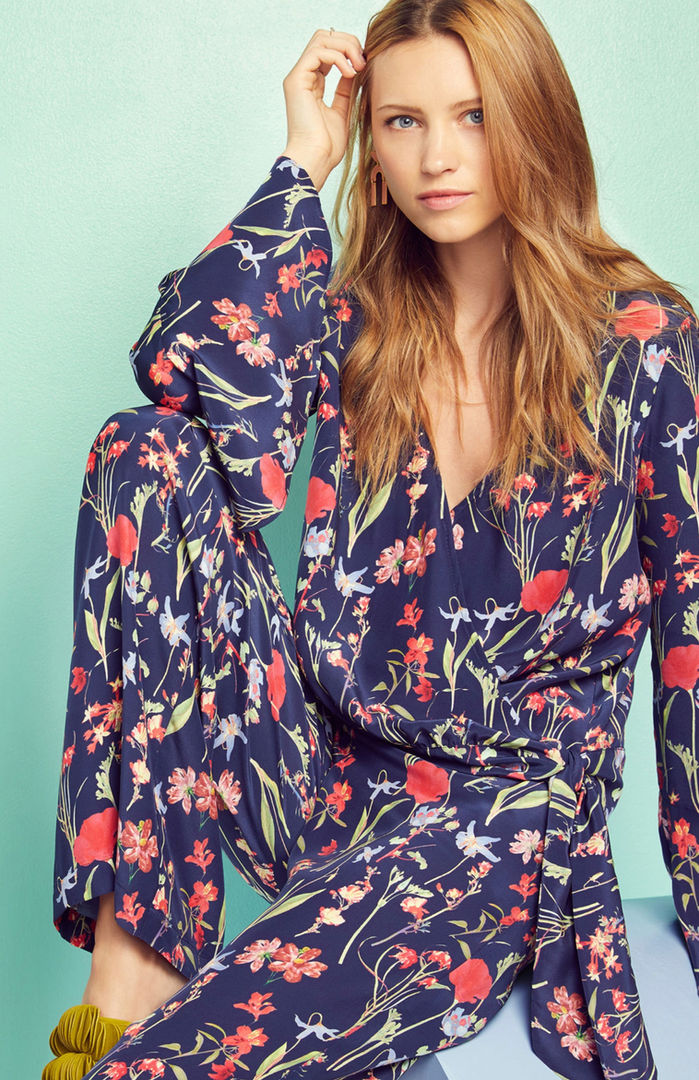 + Painted overlayed flowers print +