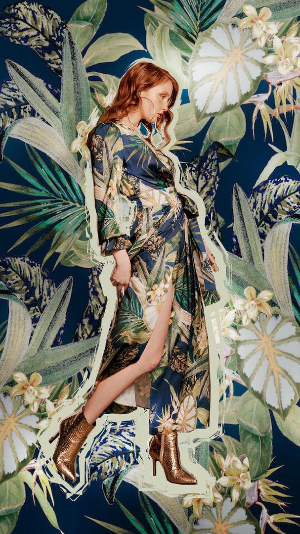 + Tropical Flowers print +