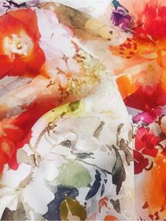 + Vintage painted flower print +