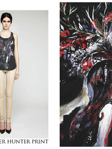 + Painted Deer/woman t-shirt +