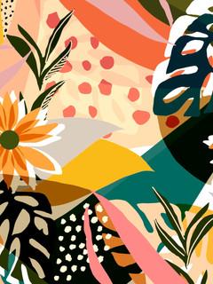 + Abstract geometric flower print +