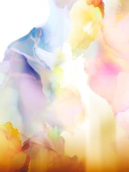 + Colour clouds print +