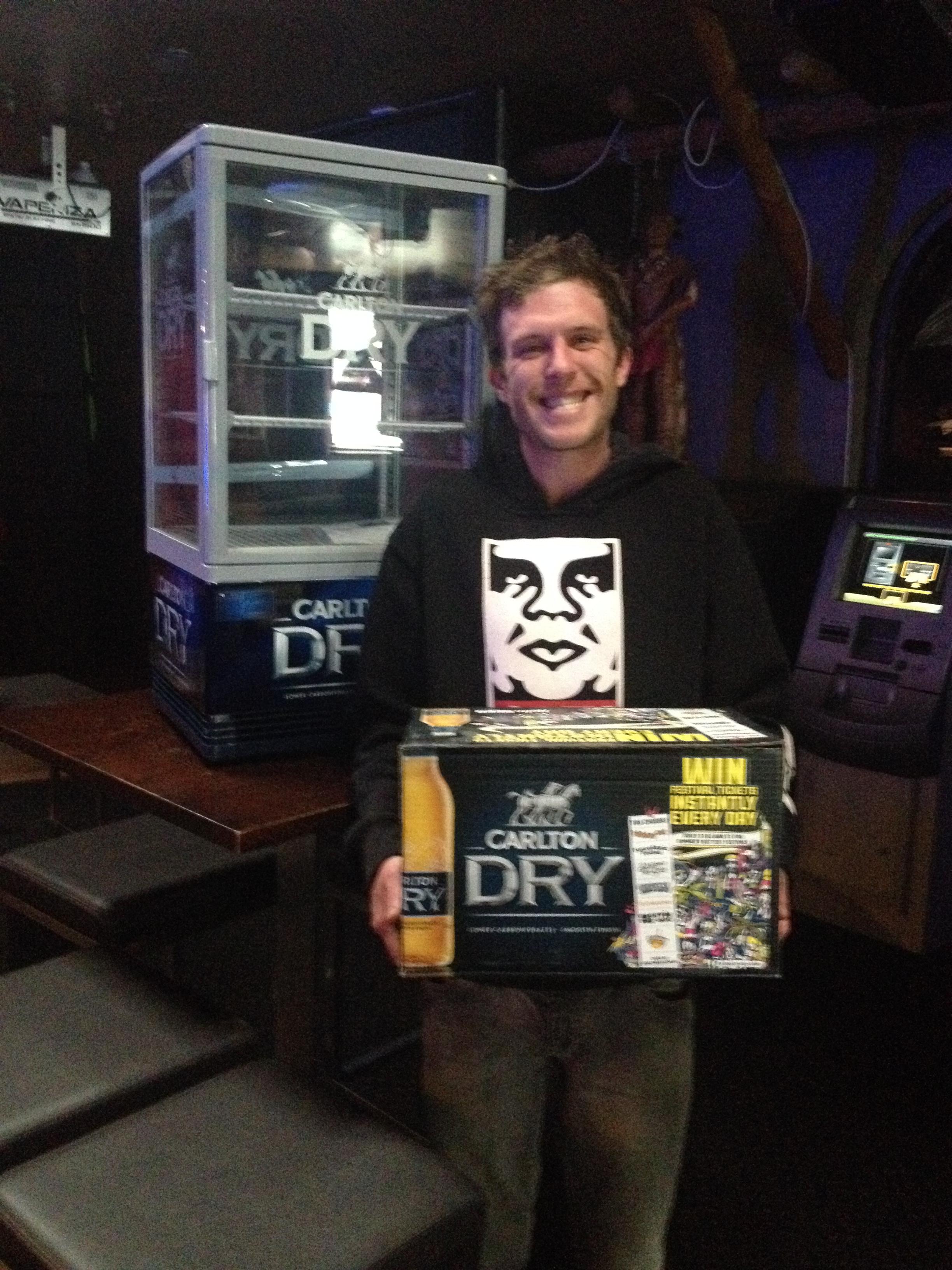 Winner of Carlton Dry Fridge