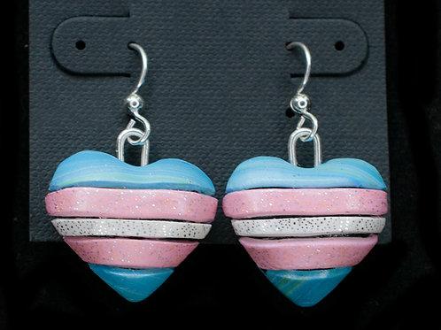 Trans Flag Earrings