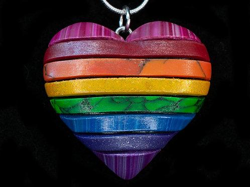 Solid Rainbow Flag Pendant
