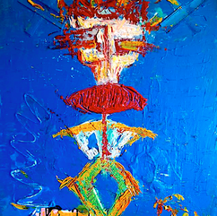 "groom Clown Russian circus ""acryoil"" canvas 81*65"