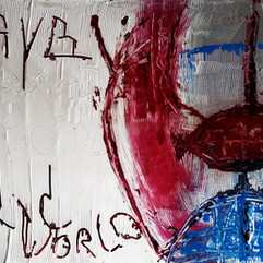 "mother save the world ""acry"" canvas 116*89"