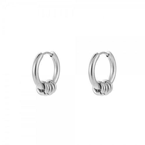 Oorbellen 'rings' zilver