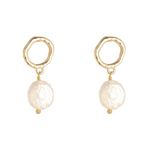 Oorbellen 'Lovely Pearl' goud