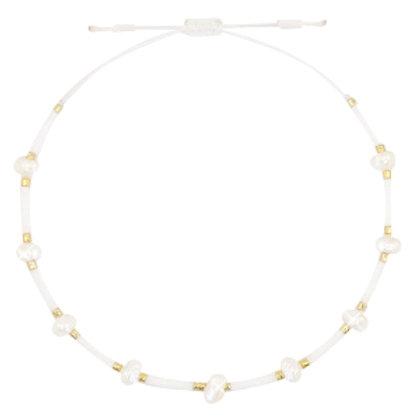 Enkelbandje 'White Pearls'