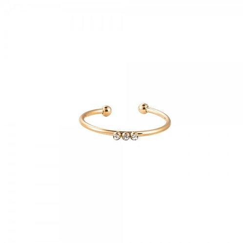 Ring 'Tripel Cuteness' goud