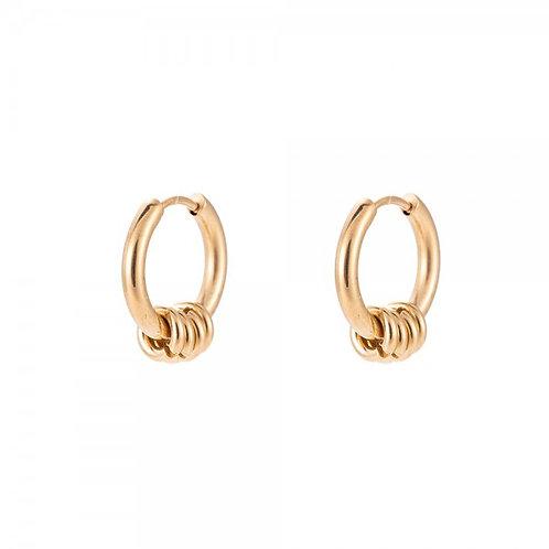 Oorbellen 'rings' goud