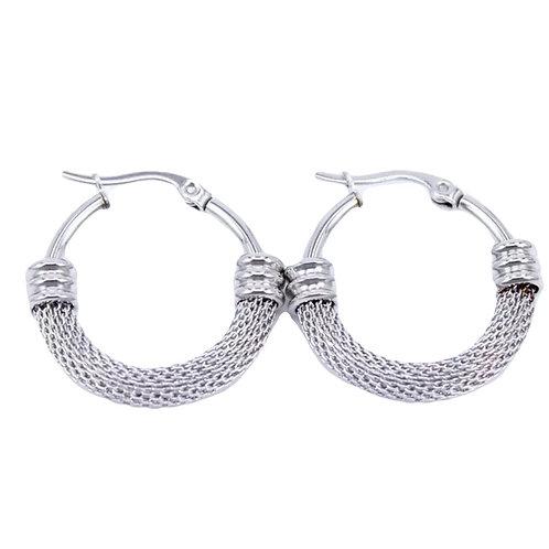 Oorbellen 'Loved hoop' zilver
