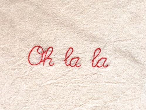 Canvas tas 'Oh La La'