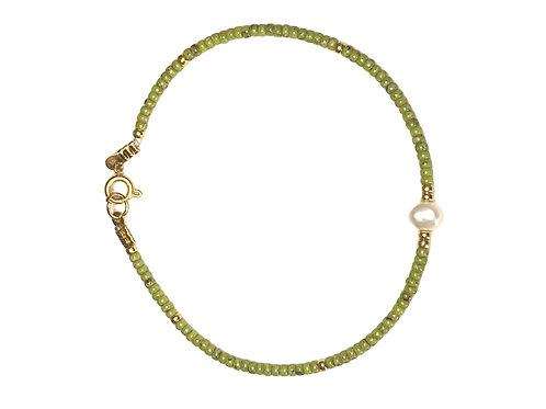 Armband 'Green Pearl'