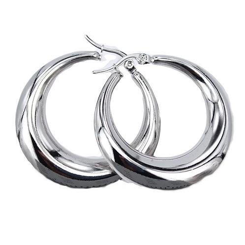 Oorbellen 'Perfect Hoop' zilver