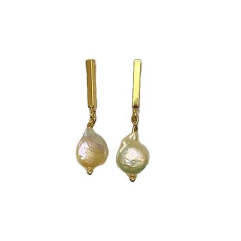 Oorbellen 'Elegant pearl' Goud