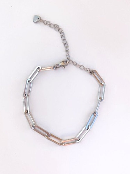 schakel armband Jane 'silver'
