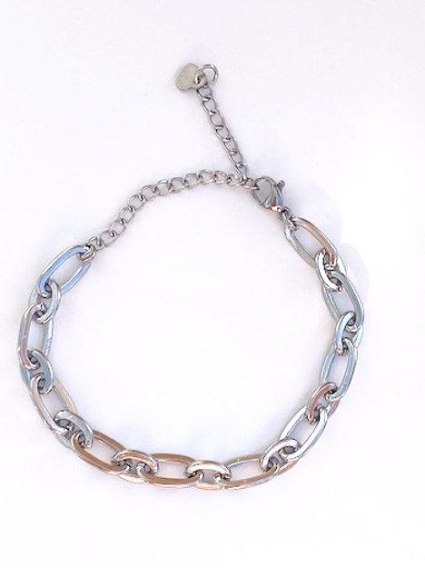 Chuncky armband Olivia 'silver'