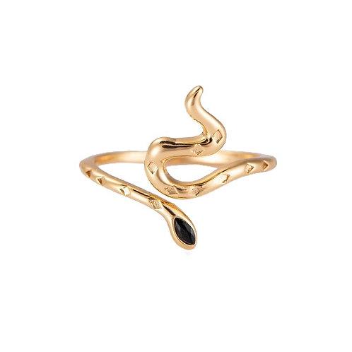 Ring 'Snake' goud