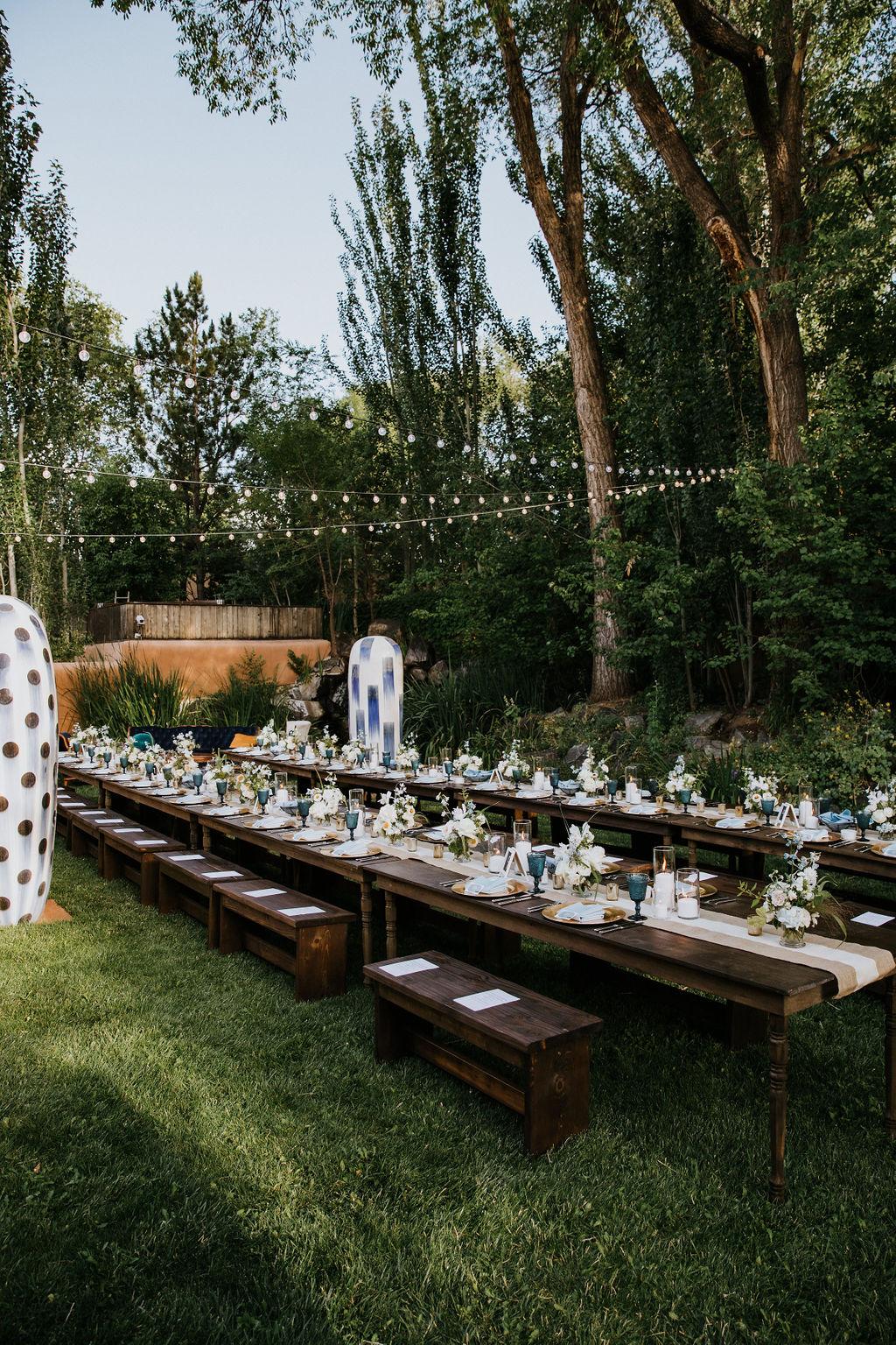 Santa Fe Garden Wedding