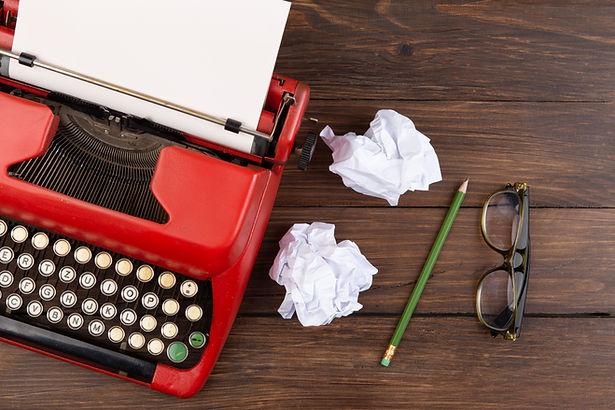 Writer or journalist workplace - vintage