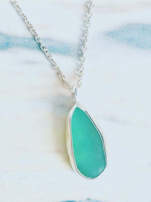 Custom Sea Glass Pendant Necklace