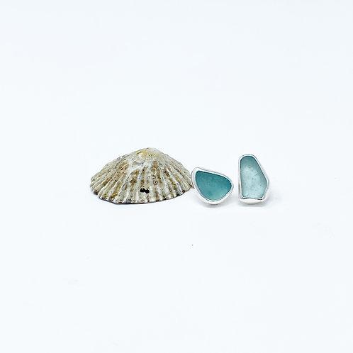 Custom Sea Glass Stud Earrings
