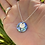 Thumbnail: Paua Shell & Wave Disc Necklace