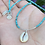 Thumbnail: Turquoise/Cowrie Shell Necklace