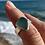 Thumbnail: Light Teal Grey Sea Glass Ring