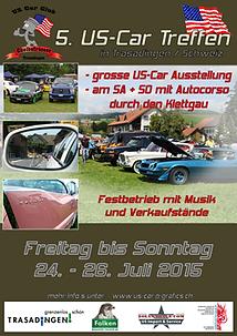 Flyer US-Car Treffen Trasaingen 2015