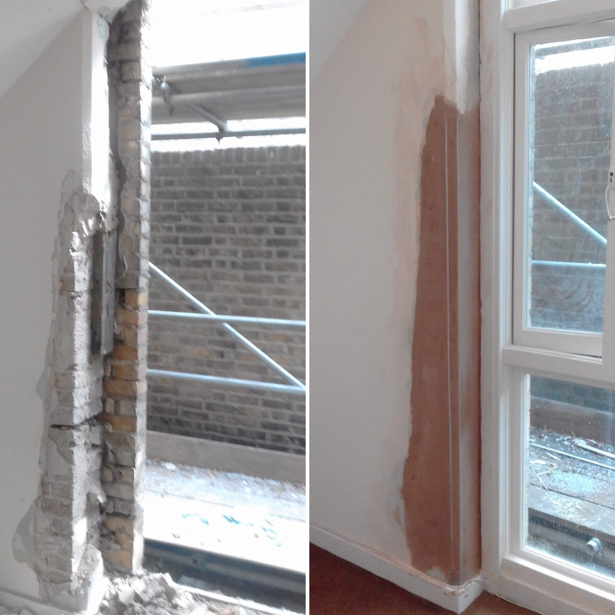 Before & After Wall Repair