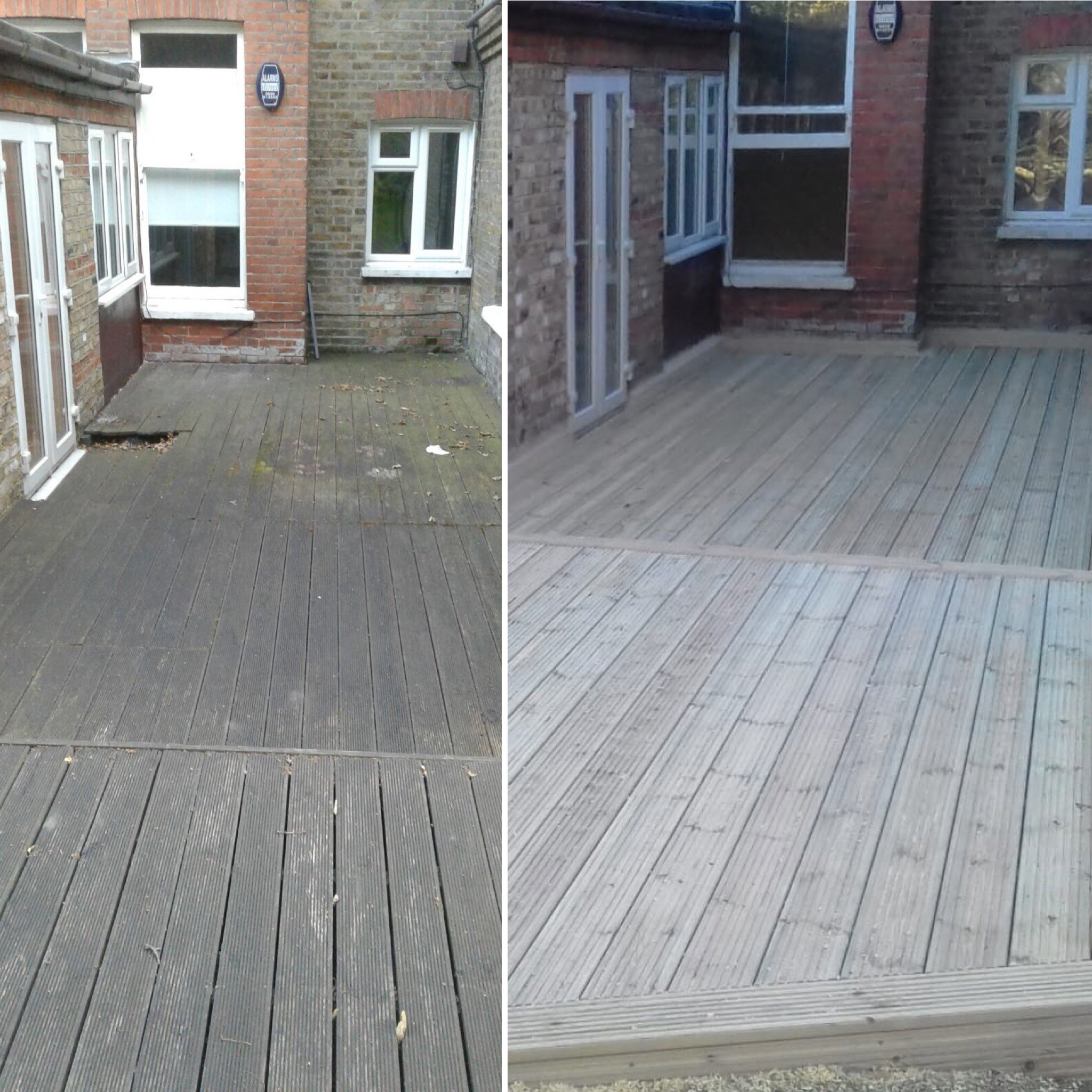 Before & After Decking