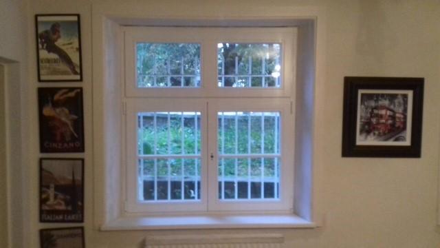 Sash Window and Security Bars