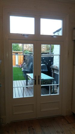 French doors with top lights
