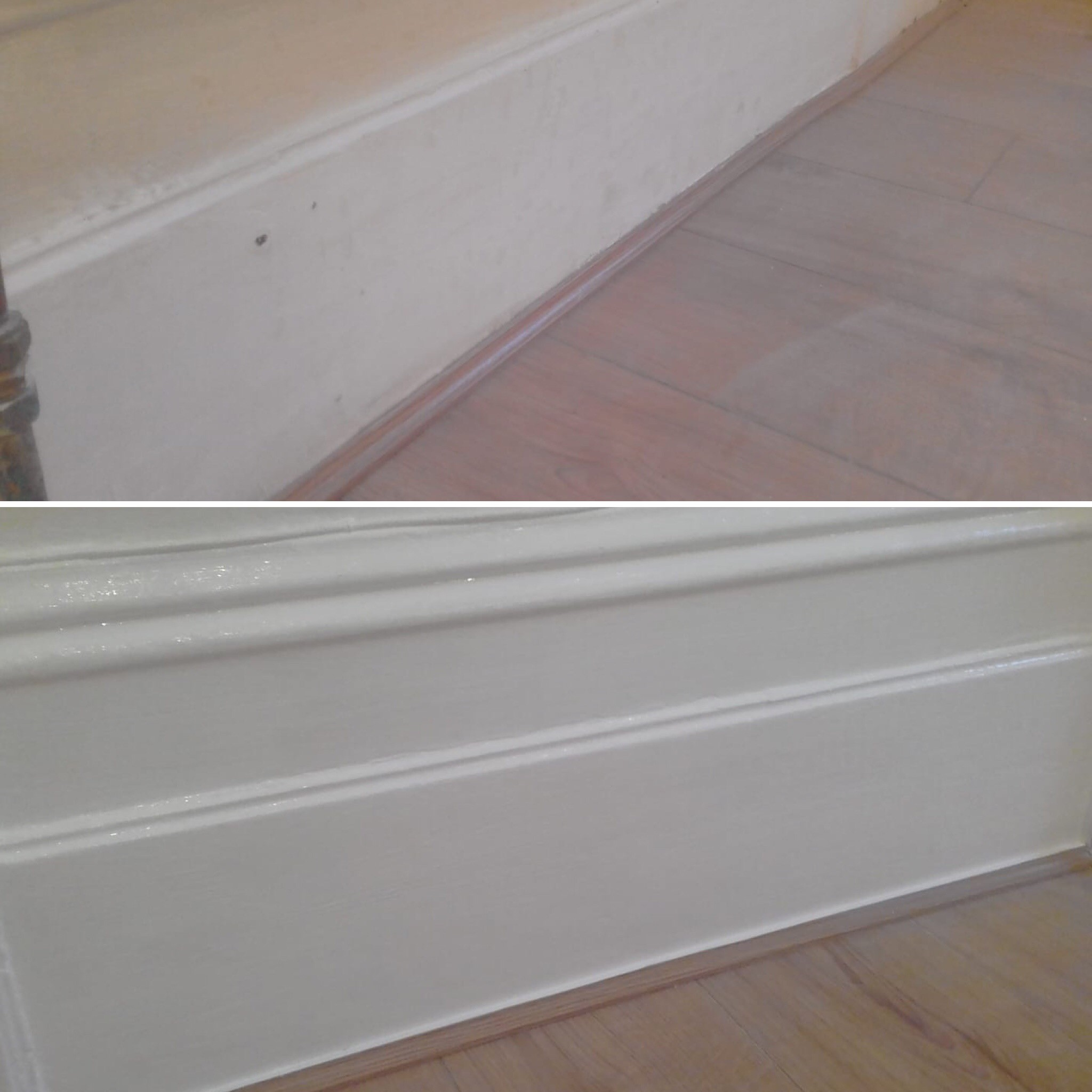 Before & After Skirting