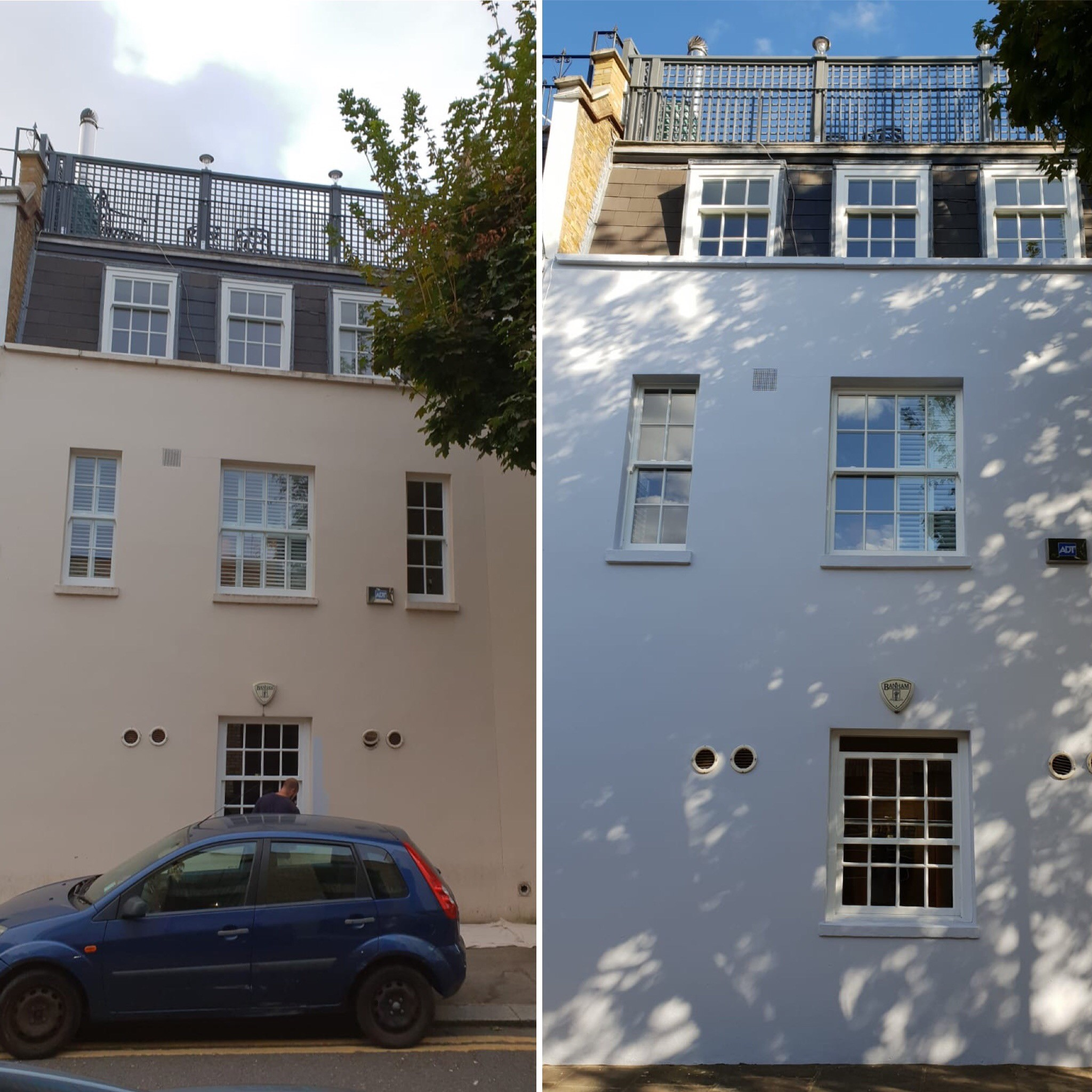 Before & After Masonry Paint