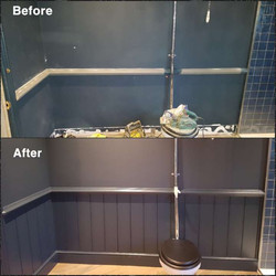 Georgian Paneling before & after