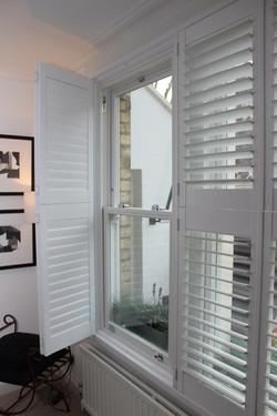 Sash Window with Shutters