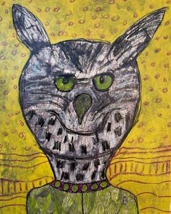 Green Eyed Owl Spirit