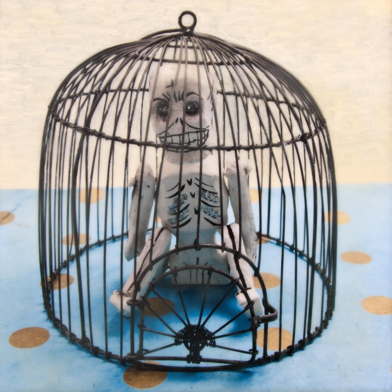 Caged Skelton - sold