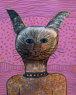 Blue Eye Siamese Cat Spirit - sold